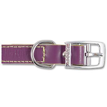Indulgence Leather Collar Grape Sz 4-5 35-48cm