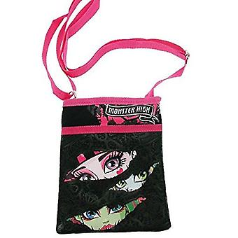 Officially Licensed | MONSTER HIGH | Black & Pink Crossover Shoulder Purse Bag