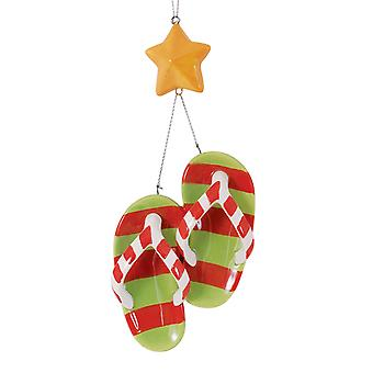 Flip Flops og søstjerner keramik Christmas Holiday Ornament Cape Shore