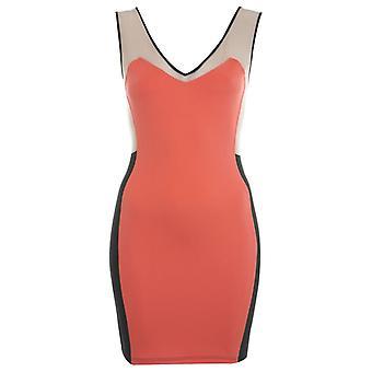 Miss Selfridge Coral Farbe Block Kleid DR583-12