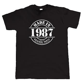 Made in 1987 Mens Funny T Shirt, 30th Birthday Gift