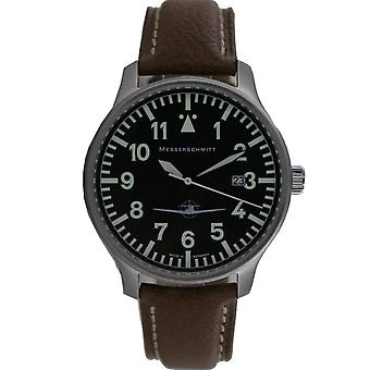 Aristo gentlemen Messerschmitt flying watch ME108-42 B leather