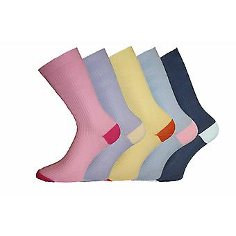 Ladies HJ Hall COTTON Softop Loose Top non-elastic Sock Contrast-Heel