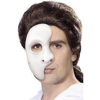 Masque de fantôme blanc demi-masque Venezia Halloween théâtre