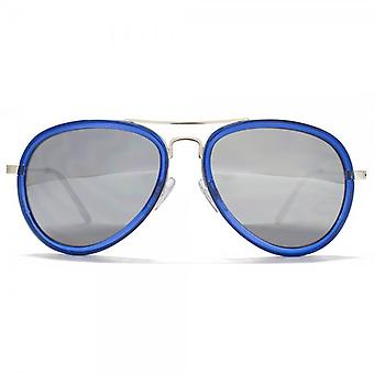 Miss KG Plastic Combo Aviator Sunglasses In Crystal Navy