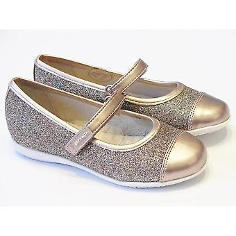 Garvalin Girls Soft Gold Leather & Glitter Shoes