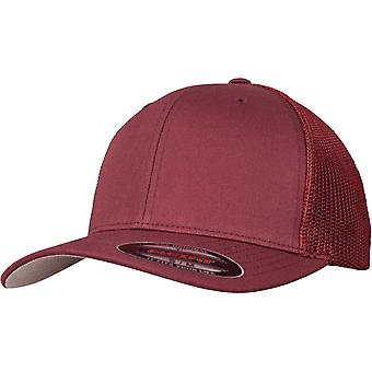 Flexfit mesh trucker Stretchable Cap - maroon