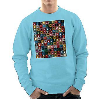 Mighty Morphin Power Rangers All Men's Sweatshirt