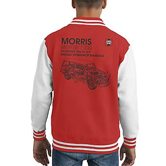 Haynes Workshop Manual 0024 Morris Minor 1000 Black Kid's Varsity Jacket