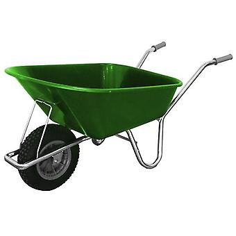 County Cruiser 100L Light Green Garden Wheelbarrow
