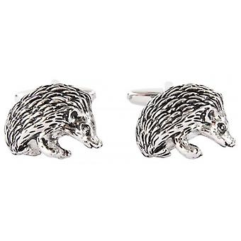 David Van Hagen Hedgehog Cufflinks - Silver