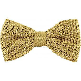 Michelsons av London silke stickade Bow Tie - gul