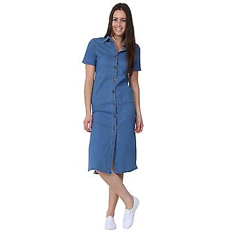 Denim Dress Button front Jean Dress with side splits