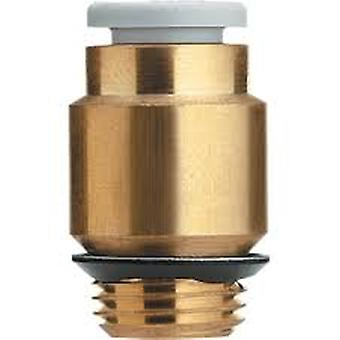 SMC Pneumatic Straight Threaded-To-Tube Adapter, R 1/8 Male, Push In 10 Mm