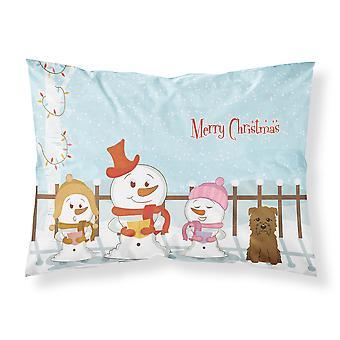 Merry Christmas Carolers Glen of Imal Tan Fabric Standard Pillowcase