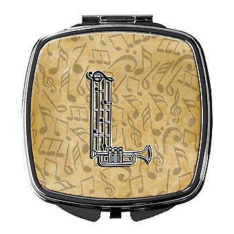 Buchstabe L Musikinstrument Alphabet Taschenspiegel