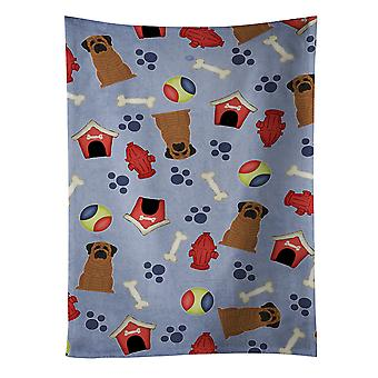 Dog House Collection Mastiff Brindle Kitchen Towel