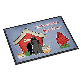 Dog House Collection Cocker Spaniel Black Indoor or Outdoor Mat 24x36