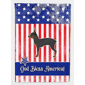 USA Patriotic Toy Fox Terrier Flag Canvas House Size