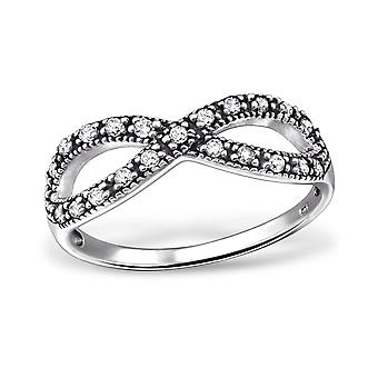 Infinity - 925 Sterling Silver Jewelled Rings - W31583x