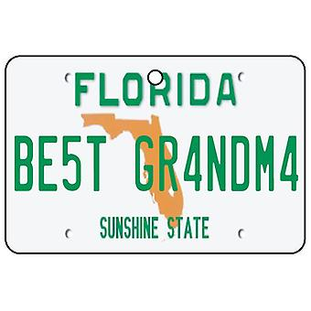 Florida - Best Grandma License Plate Car Air Freshener