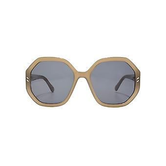 Stella McCartney Oversize Geometric Sunglasses In Khaki