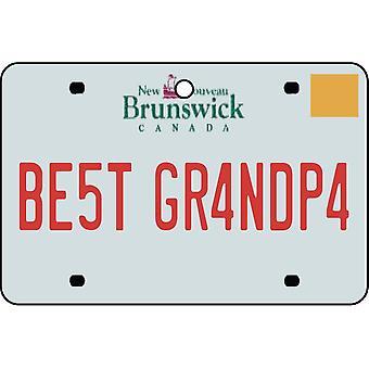 NEW BRUNSWICK - Best Grandpa License Plate Car Air Freshener