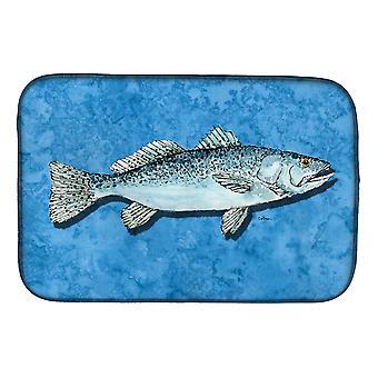 Carolines Treasures  8770DDM Fish - Trout Dish Drying Mat
