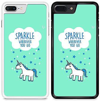 Unicorns Sparkle Wherever You Go Custom Designed Printed Phone Case For Apple iPhone 7 plus / U01 / White