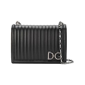 Dolce E Gabbana women's BB6589AU31080999 black leather shoulder bag