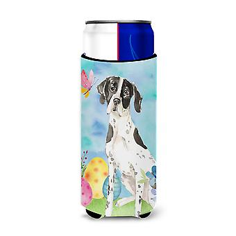 Easter Eggs English Pointer Michelob Ultra Hugger for slim cans