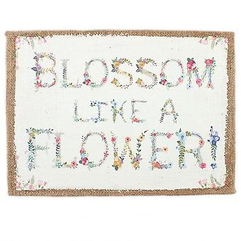 Something Different Blossom Hessian Wall Sign