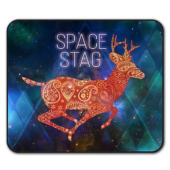 Deer Head Graphic  Non-Slip Mouse Mat Pad 24cm x 20cm   Wellcoda