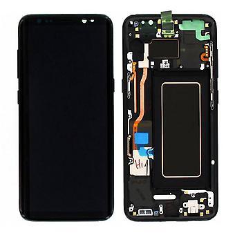 Display LCD Komplettset GH97-20457A Schwarz für Samsung Galaxy S8 G950 G950F