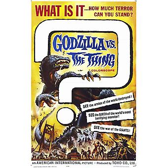 Godzilla vs The Thing Movie Poster (11 x 17)