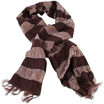 Bassin and Brown Sarracenia Hori Striped Scarf - Bronze/Brown