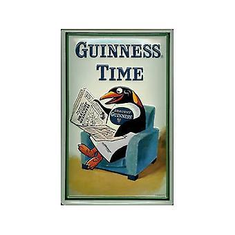 Muestra de acero en relieve Guinness tiempo (Penguin)