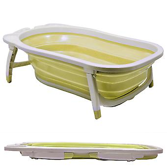 Baby - Splashy Plastic Folding Fold Away Baby Bath - White / Lemon