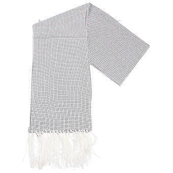 Knightsbridge Neckwear Pin Dot Dress Scarf - White