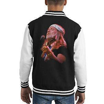 TV Times Willie Nelson Live Kid's Varsity Jacket