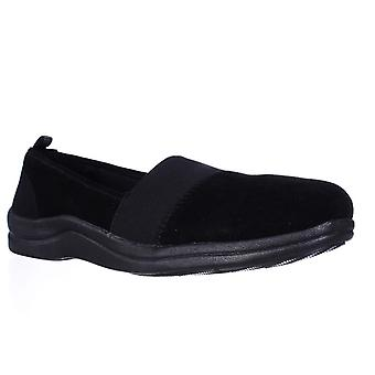 Easy Street Womens Lovey Leather Round Toe Loafers