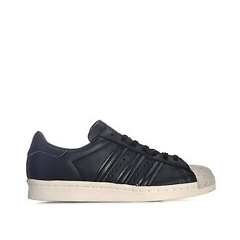 Womens adidas Originals Superstar 80S Cork Trainers In Core Black / Off White