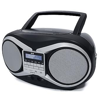 GVPS753BK DAB Boombox Portable Programmable CD Player with DAB/FM Radio - Black