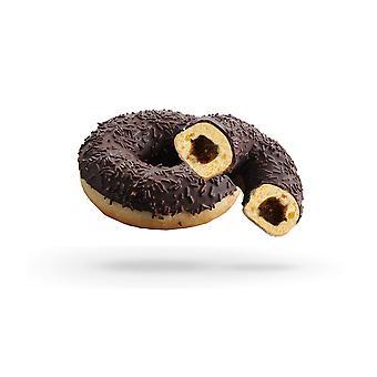 Dawn gefrorene Creme gefüllt Triple Schokoladen Donuts