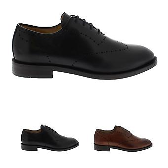 Mens H By Hudson Twain Leather Smart Oxfords Office Formal Work Shoes