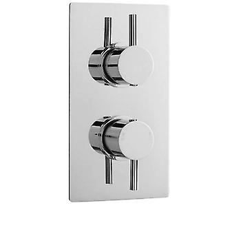 ULTRA Quest Rectangular Twin Shower with Built in Diverter (Hudson Reed)
