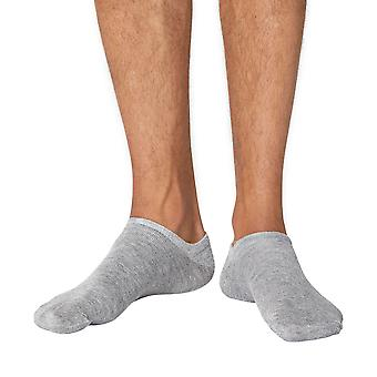 Ashley men's soft bamboo anklet (trainer) socks in grey | By Thought
