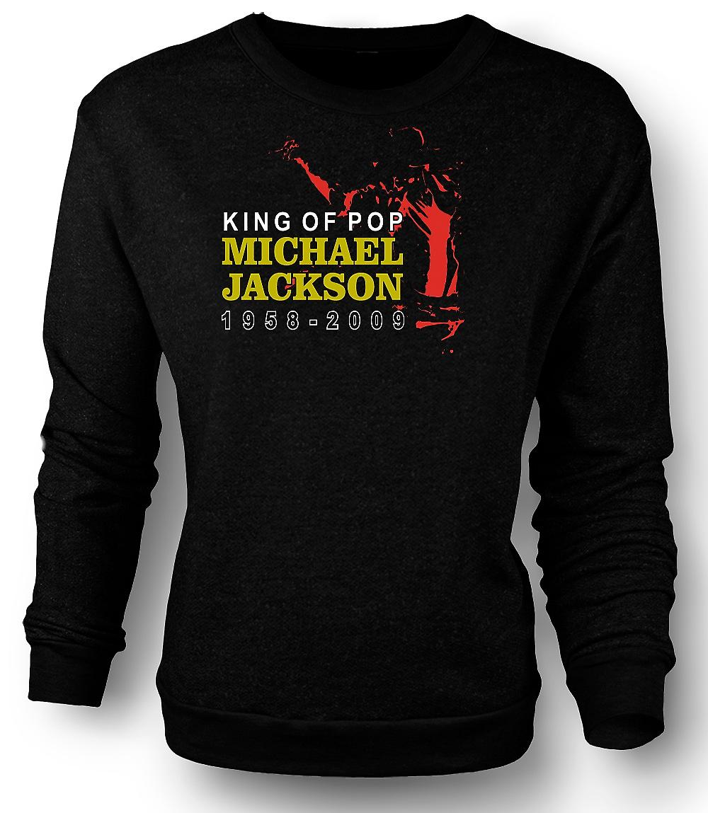 Mens Sweatshirt Michael Jackson kungen av Pop - ny