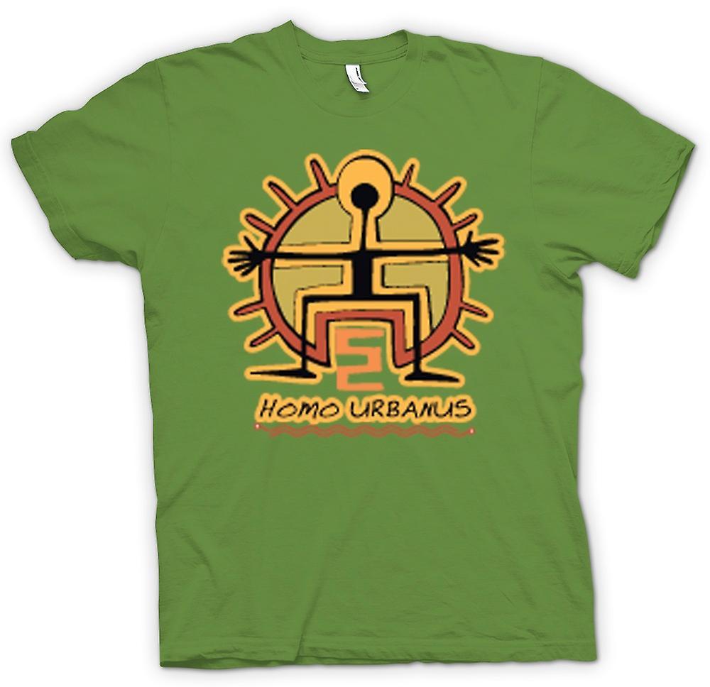 Mens T-shirt - Homo Urbanus Caveman ontwerp
