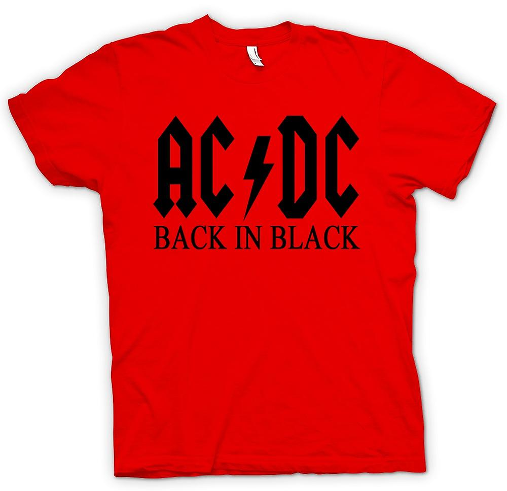 Hommes T-shirt - AC / DC Back In Black - Rock